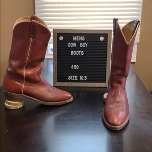 Men's cow boy boots (stained)